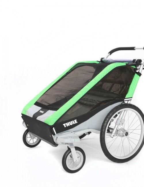 podwójna przyczepka rowerowa dla dziecka