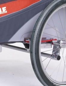 podwójna przyczepka rowerowa - pomarańczowy 2014