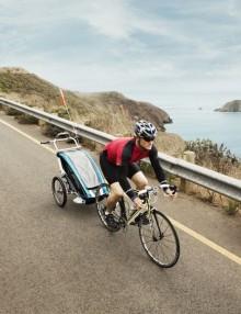 przyczepka rowerowa dla dziecka - czerwona