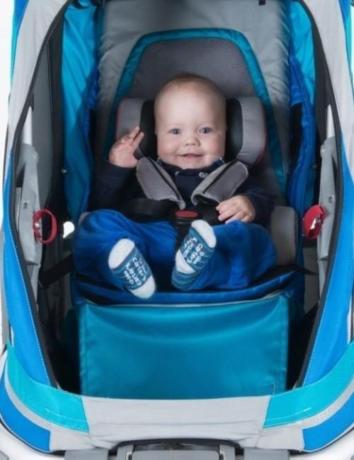 wózek/przyczepka rowerowa dla dziecka - niebieska